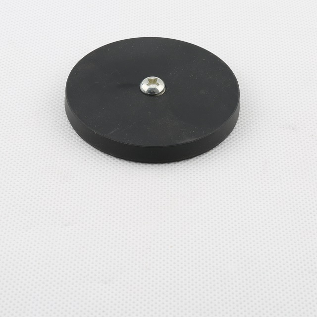 Rubber coated NdFeb pot with internal thread