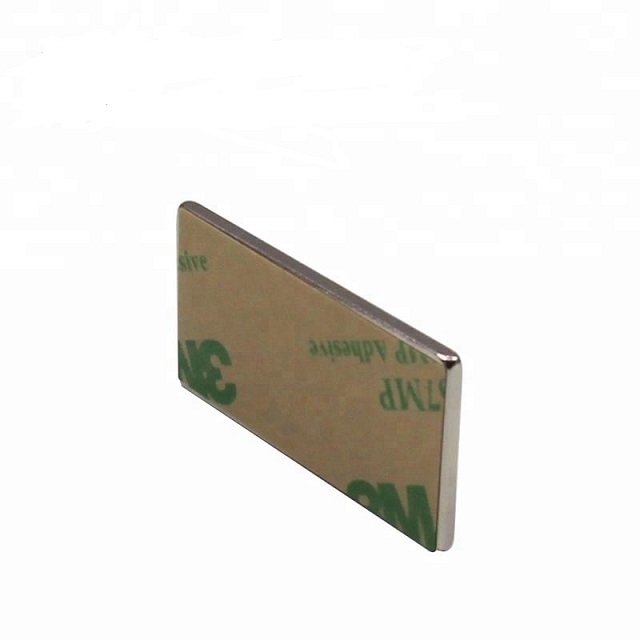 Block NdFeB Magnet with 3M adhesive