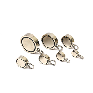 Customized Flank Neodymium fishing magnet with SS hook Neodymium magnet