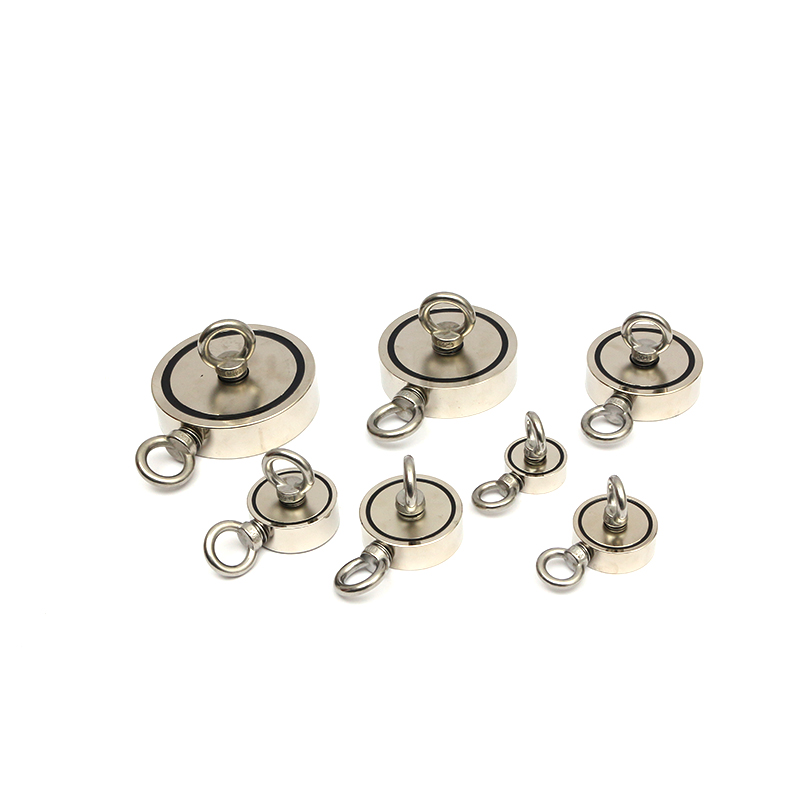 Hot sales Two flanks Neodymium fishing magnet with SS hook
